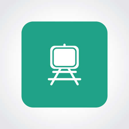 paper art projects: Very Useful Flat Icon of Painting Stand . Illustration