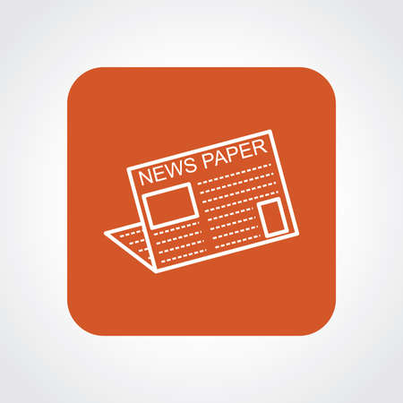 news paper: Very Useful Flat Icon of News Paper.