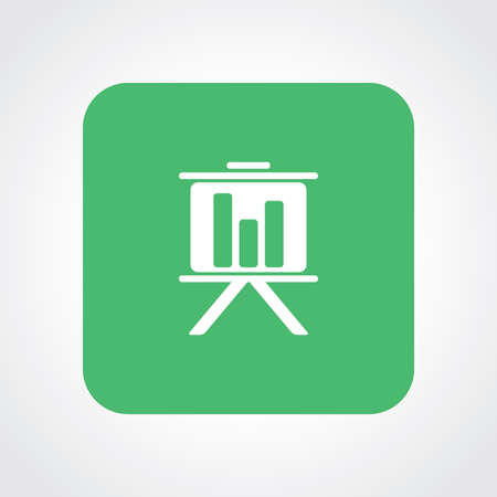 Very Useful Flat Icon of Presentation Chart.   Vector