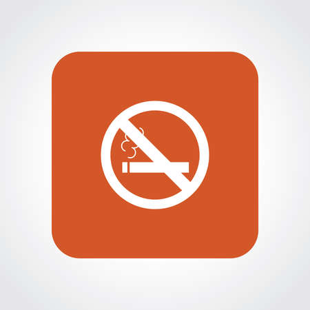 smoldering cigarette: Very Useful Flat Icon of No Smoking.