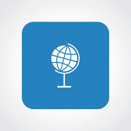 useful: Very Useful Flat Icon of Globe.