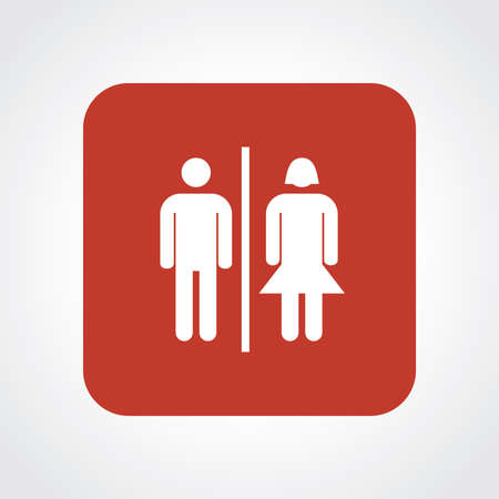man and women wc sign: Very Useful Flat Icon of Toilet.
