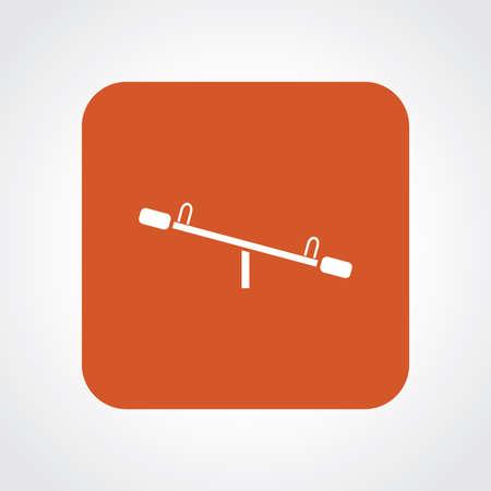 playmates: Icono Piso muy útil de balancín. Vectores