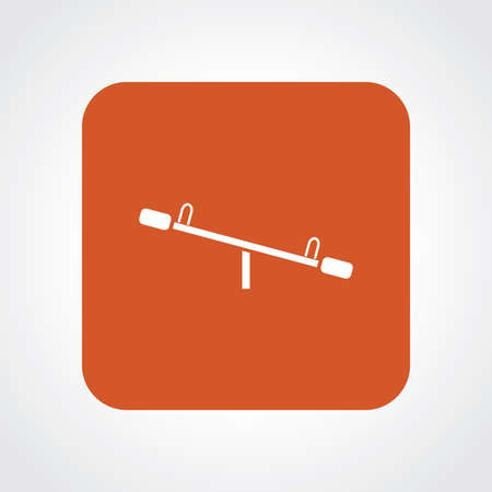 playmates: Very Useful Flat Icon of Seesaw.  Illustration