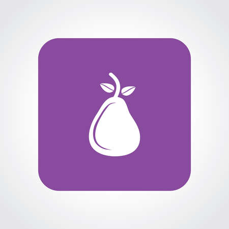 Very Useful Flat Icon of Pear.  Vector
