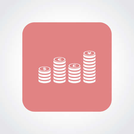 Very Useful Flat Icon of Currency Coin. Vector