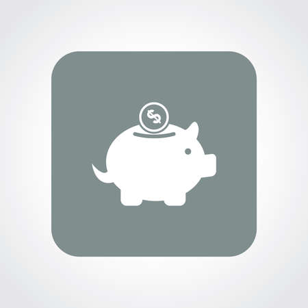 useful: Very Useful Flat Icon of Piggy Bank