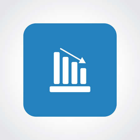 Very Useful Flat Icon of Graph.  Vector
