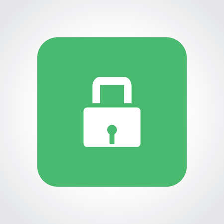 useful: Very Useful Flat Icon of Lock. Illustration