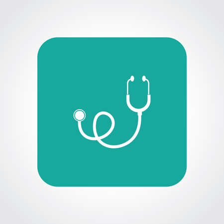 Very Useful Flat Icon of Stethoscope.