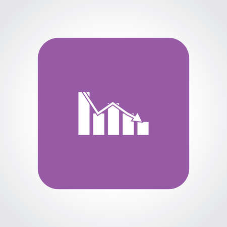 Very Useful Flat Icon of Graph. Eps10. Vector