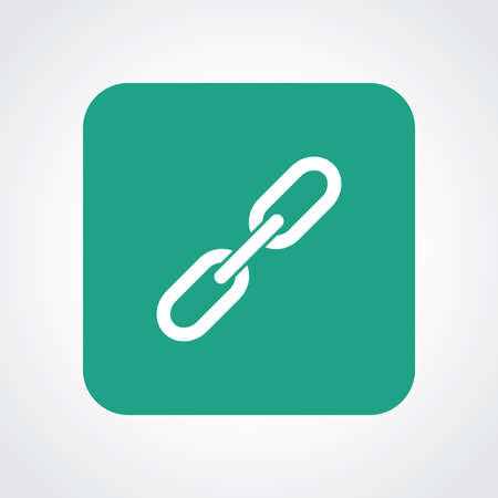 Very Useful Flat Icon of Link.  Illustration