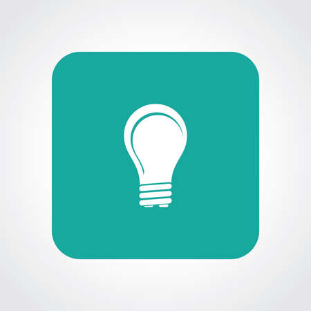 Very Useful Flat Icon of Bulb.  Vector
