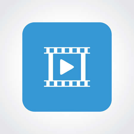 useful: Very Useful Flat Icon of Video. Illustration