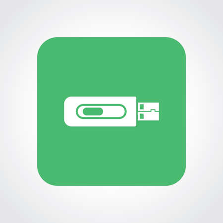 Very Useful Flat Icon of USB Drive. Vector