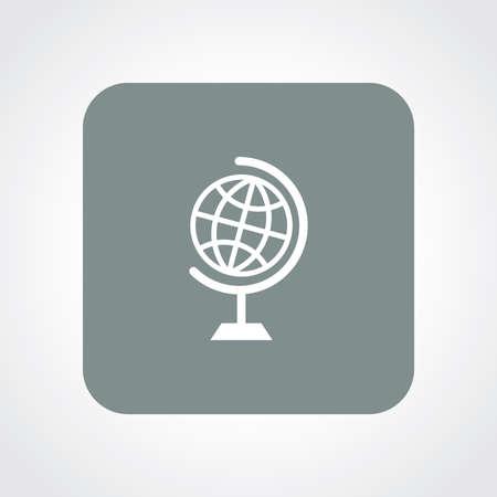 useful: Very Useful Flat Icon of Globe. Eps10.