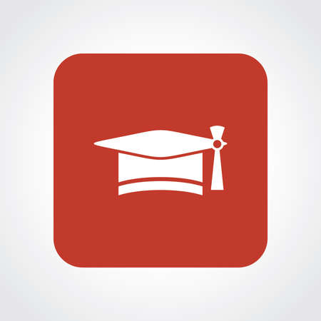 Very Useful Flat Icon of Graduation Cap. Eps10. Vector