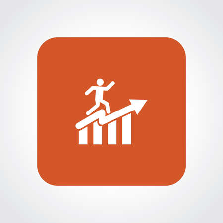 Very Useful Flat Icon of Man With Graph. Eps10. Vector
