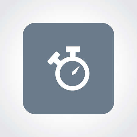 interval: Very Useful Flat Icon of Stop Watch. Eps10.
