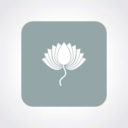 sutra: Very Useful Flat Icon of Lotus. Eps10.