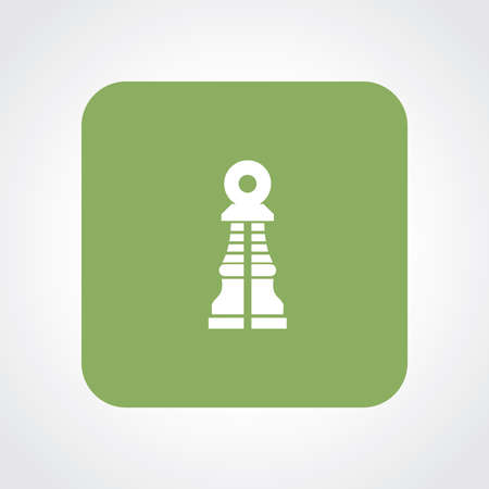 Very Useful Flat Icon of Chess Pawn. Eps10.