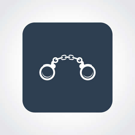 handcuff: Very Useful Flat Icon of Handcuff. Eps10. Illustration