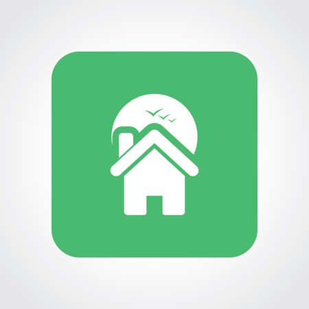 homestead: Very Useful Flat Icon of Home. Eps10.