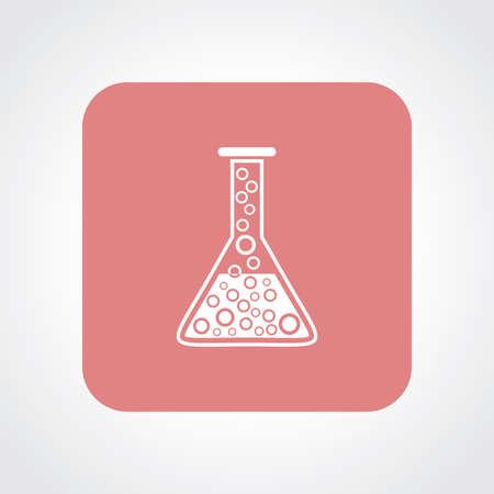 Very Useful Flat Icon of Laboratory Glass. Eps10. Illustration