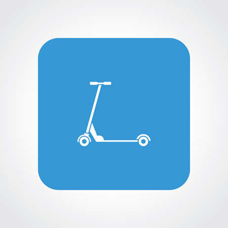 handle bars: Very Useful Flat Icon of Kids Scooter. Eps10.
