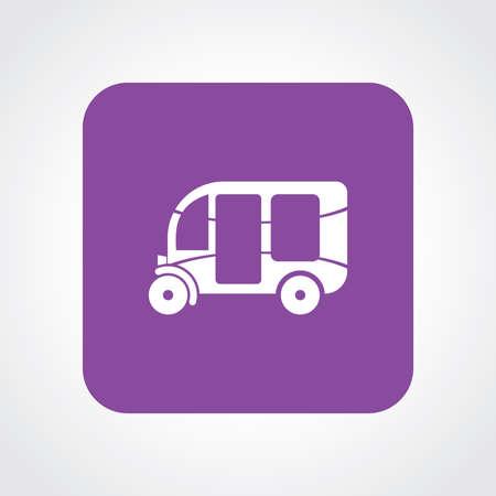 rikscha: Sehr nützlich Wohnung Icon of Three Wheeler Rickshaw.
