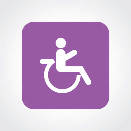 paralyze: Very Useful Flat Icon of Wheel Chair. Eps10. Illustration