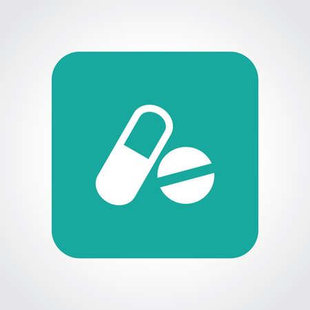 医学の非常に便利なフラット アイコン。Eps10。