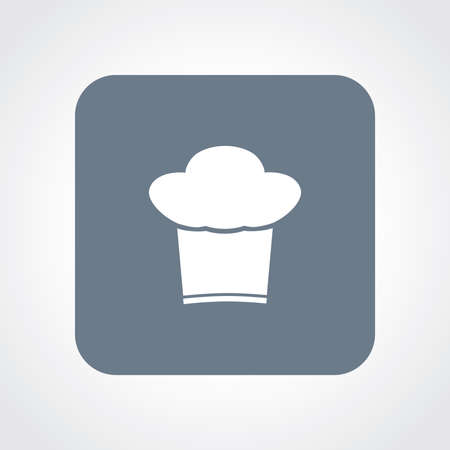 fine cuisine: Very Useful Flat Icon of Chef Cap.