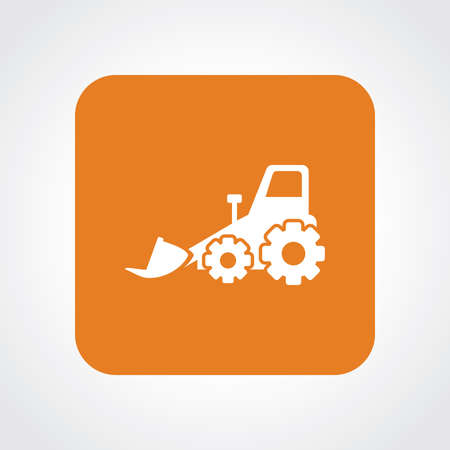dredger: Very Useful Flat Icon of Bulldozer.
