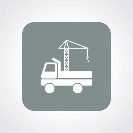 intention: Very Useful Flat Icon of Crane. Eps10.