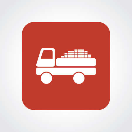 luggage carrier: Very Useful Flat Icon of truck Illustration