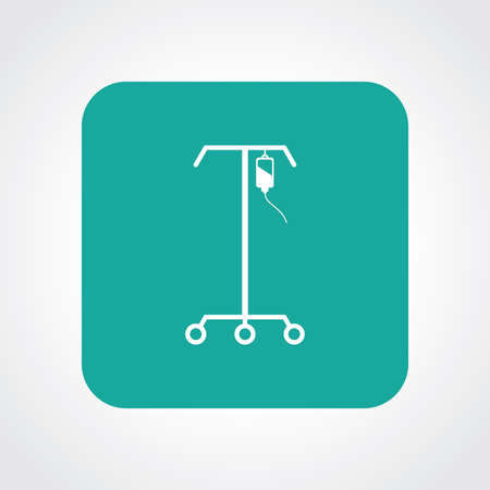Very Useful Flat Icon of IV Stand.