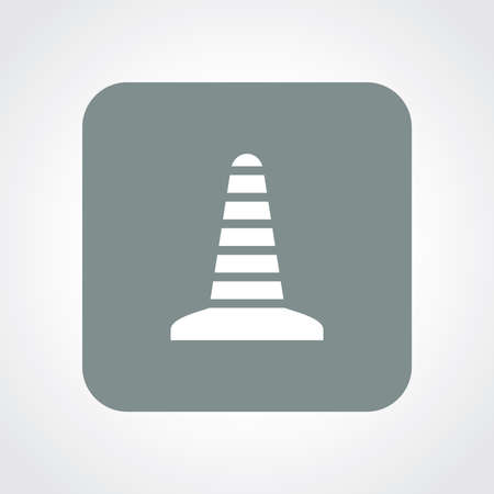 Very Useful Flat Icon of Road Cone.  Vector