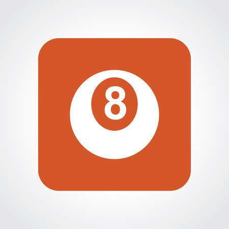 bola ocho: Icono Piso muy �til de Billar Bola Ocho.
