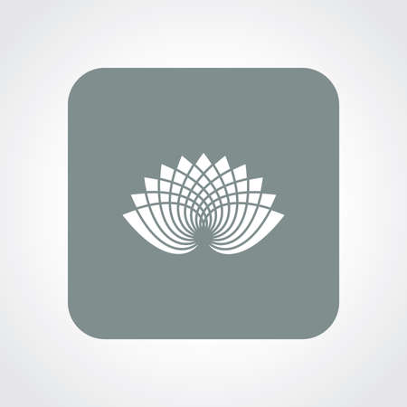 simple purity flowers: Very Useful Flat Icon of Lotus.  Illustration