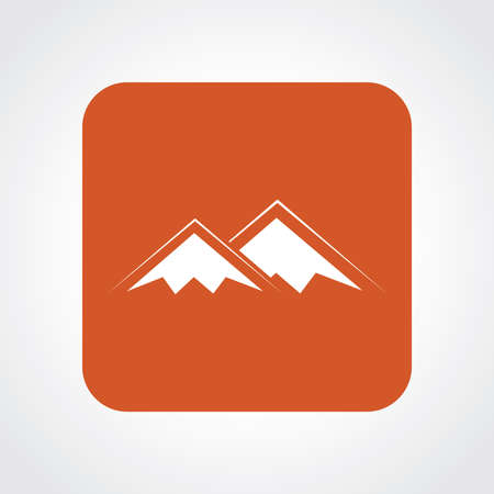 natural ice pastime: Very Useful Flat Icon of Mountains. Eps10. Illustration