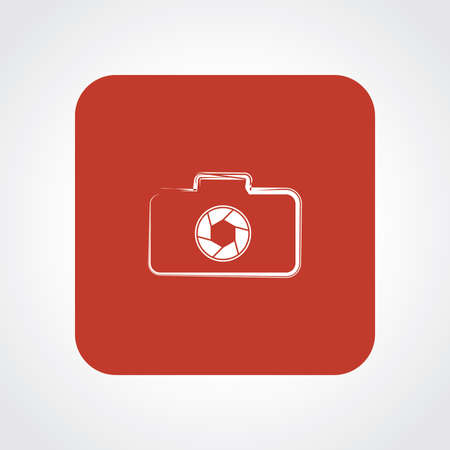 Very Useful Flat Icon of Camera. Vector