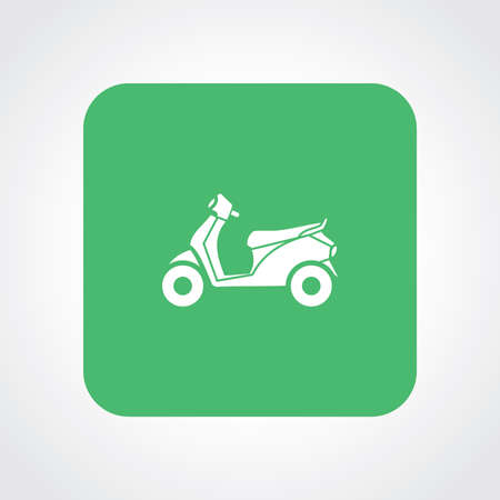 revivalism: Very Useful Flat Icon of Scooter. Eps10. Illustration