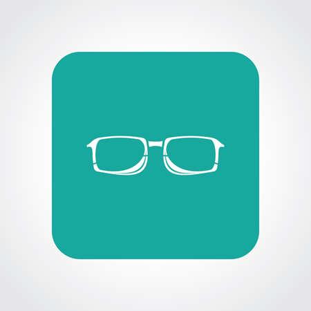 corrective lenses: Very Useful Flat Icon of Glasses. Eps10.