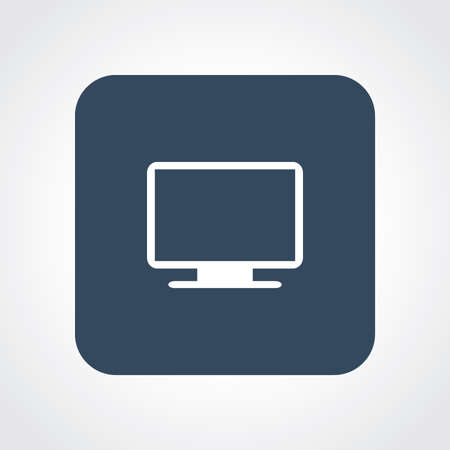 Very Useful Flat Icon of Monitor. Eps10. Vector