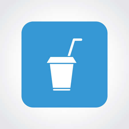 away travel: Very Useful Flat Icon of Drink Cup.