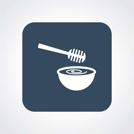 gastronomic: Very Useful Flat Icon of Honey Dipper