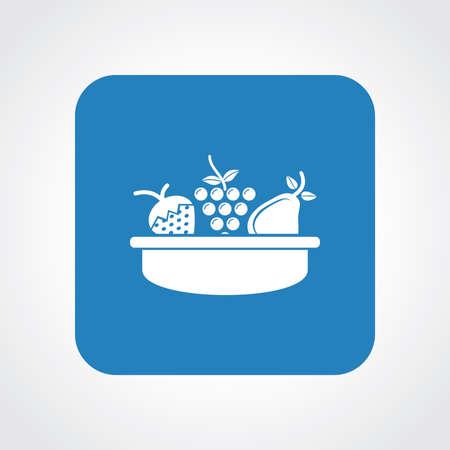 canasta de frutas: Icono Piso muy �til de la cesta de fruta.
