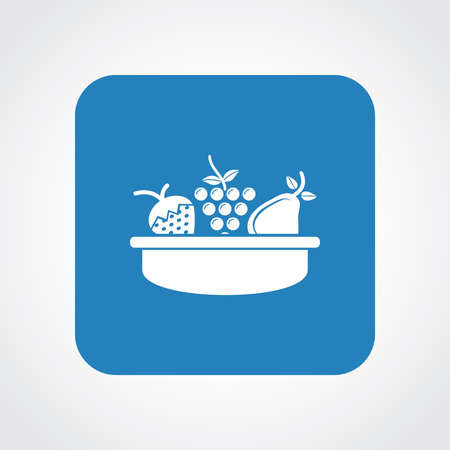 fruit basket: Very Useful Flat Icon of Fruit Basket.