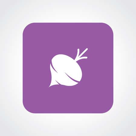 turnip: Flat Icon of Turnip